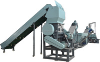 waste agricultural films/pp woven bags recycling washing machine
