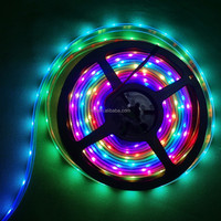 Addressable 5m 30LEDs/m DC5V WS2812B led pixel strip;waterproof in silicon tube;IP66,with 30pixels/M;BLACK PCB