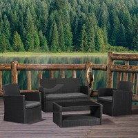 K.D Structure Outdoor Rattan Sofa Set/ Garden Wicker Furniture Dining Sets of 4