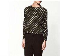 wholesale simple point chiffon design lady's blouse