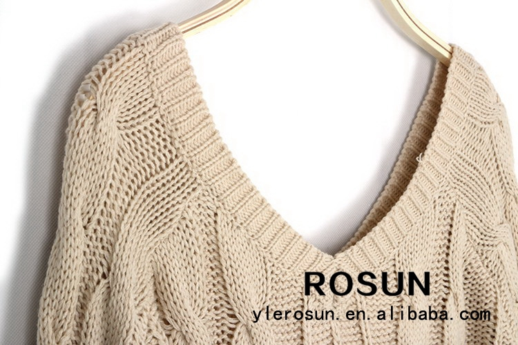 Wholesale Top Quality Sexy Knitted Deep V Neck Free Knitting Pattern