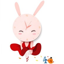 Rabbit decorative digital wall clock with CE&ROHS