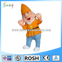 fairy tale seven dwarfs inflatable fur costumes for advertising