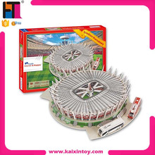 Paper Material Puzzle stadium Model DIY Stadion Narodowy(poland) 3D Jigsaw Games Puzzle