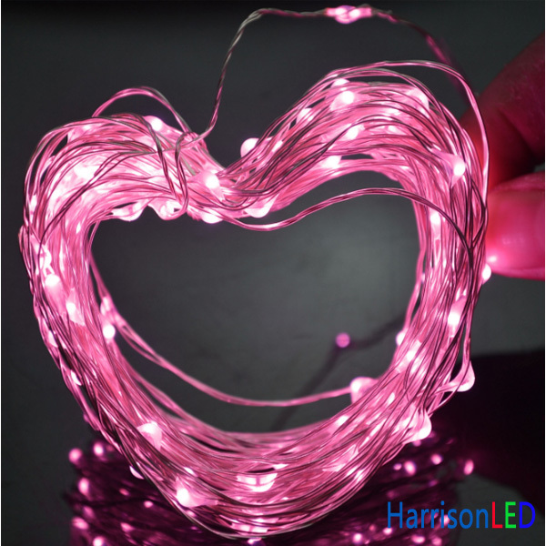 Battery Operated Or Adapter Powered Full Color Mini Copper Wire Led ...