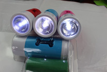 LED dog waste poop bags with dispenser/pet waste bag wholesale/doggy bag