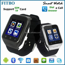 Portable Wearable Wifi + Email + Video Play MTK6572 watch phone dual sim 3g