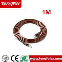 Flexible cat5e cat6 utp ftp sftp flat lan cable patch cord cable