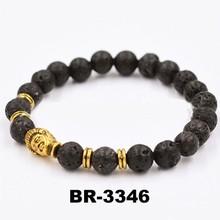 Golden lava stone bracelet buddha bracelet for men