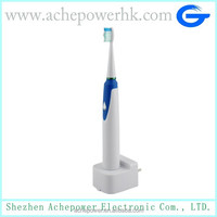 Wall plug charger magnetic electric toothbrush with replaceable brush heads
