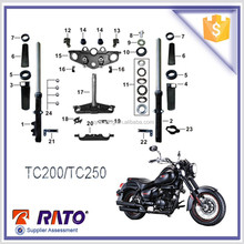 TC200 high performance chopper type motorcycle front shock absorbers, steering steem, and some usual parts