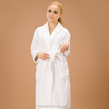 white shawl collar terry contain 100% cotton bathrobe sex products for women