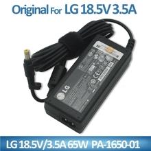Yellow Connetor Genuine Original 65W 18.5V 3.5A international adapter 4.8*1.7mm for LG