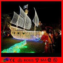 CE&ROHS outdoor laser light christmas decoration led holiday boat landscape