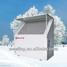 Meeting super low noise EVI air to water heat pump for heating and cooling in low temperature