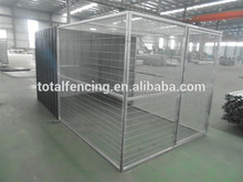 dog kennel run with cladding plate dog cage