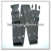 57mm black polypropylene belts with plasitc buckle for army use