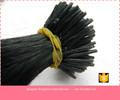 Curtos e encaracolados brasileira extensões de cabelo pré e- extensão do cabelo colado