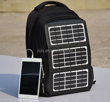 8W Powered Backpack Camping Solar backpack Bag with Battery Portable Charger