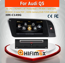 Hifimax car dvd audio navigation system For AUDI Q5 2009-2013 with A8 CHIPSET DUAL CORE 1080P V-20 DISC WIFI 3G INTERNET DVR