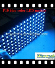 alibaba express hot product P10 outdoor single bule color p10 led moving message display