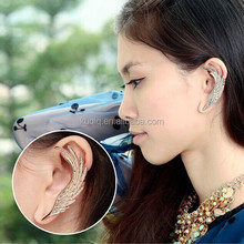 New Design Fashionable Angel's Wings Golden Ear Cuff Wholesale