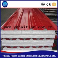 China famous corrugated Steel Roofing EPS sandwich panels