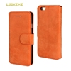Wholesale retro wallet phone case leather case for Samsung Galaxy S6 G9200 wallet case