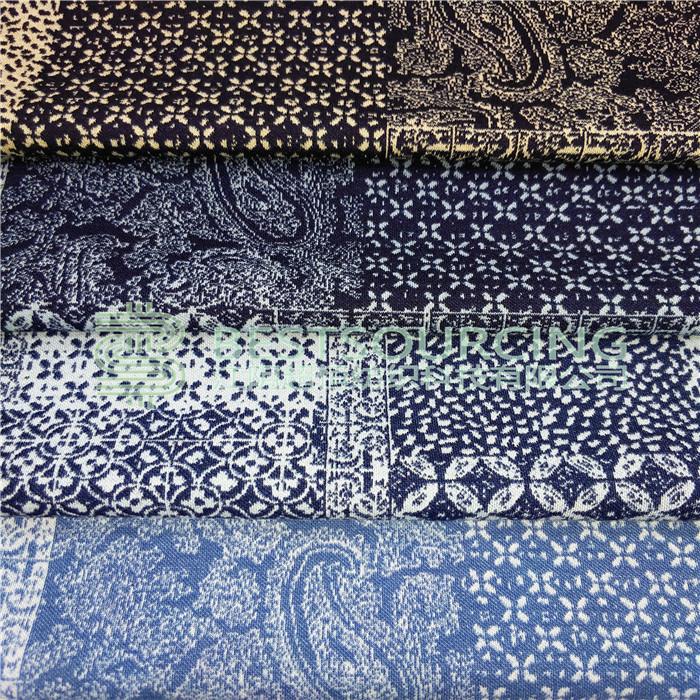 soft jacquard knit fabric for garment