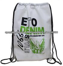 durable de plástico biodegradable con cordón bolsas de venta al por mayor