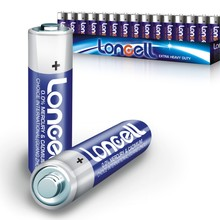 LONCELL Brand aa size 1.5v r6 um3 carbon zinc batteries