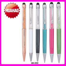 hot new products for 2015 Best Quality Crystal Pen Metal Ballpoint pens promotional pen school stationary