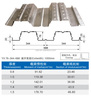 galvanized steel floor decking sheet/ steel floor decking /composite floor decking YX76-344-688