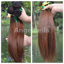 Angelbella Good Selling Cheap Hair Weaving Brazilian Humain Vierge Straight Hairpiece