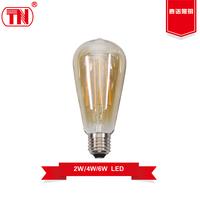 New type 600lm 800lm 1000lm st64 led bulb 5w 6w 8w filament led