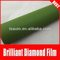 TSAUTOP ROHS certificate 1.52*30m air Free bubbles matte brillant&diamond army green carbon fiber clothing