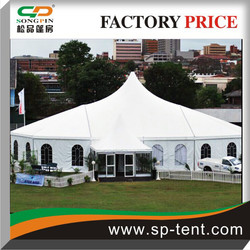 Apse Octagonal-end 15x30m aluminum framed marquee tents for 300 people dinner events