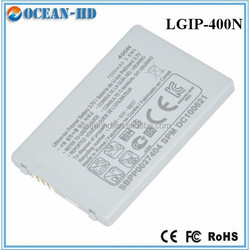 Real capacity long time mobile phone battery for LG LGIP-400N