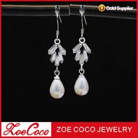 fashion sterling silver pearl earring designs new model earrings