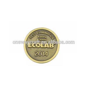 Venta al por mayor de la buena calidad de Memorial Metal militar de la moneda de oro de plata moneda de Metal