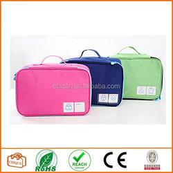 2015 Chiqun Dongguan Waterproof Nylon Travel Luggage Bra Underwear Organizer Bag Pouch Case (3 Color)