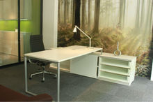 White lacquer desk/white office desk