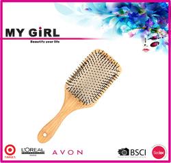 MY GIRL wood handle Environmental massage wooden hair brush