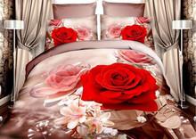 hot sale polyester flower leopard tiger brand queen bedding bed sheet set bedclothes duvet cover set bedding set