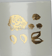 Waterproof Mixed Gold Sliver Metallic Temporary Tattoo Sticker PTF2120