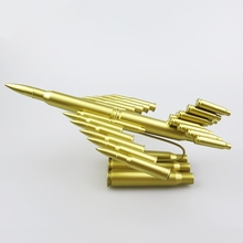 Metal crafts Bullet Casings Plane Model for Model Collector and Lovers Couples Boy's Gifts