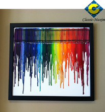 colorful rainbow brush wall painting stencils
