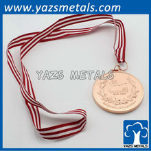 cheap copper medal custom with ribbon