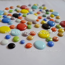 china glass factory with glass gems