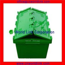 50kgs Logistic Stackable Crate Box Attached Lid Flip Top Storage